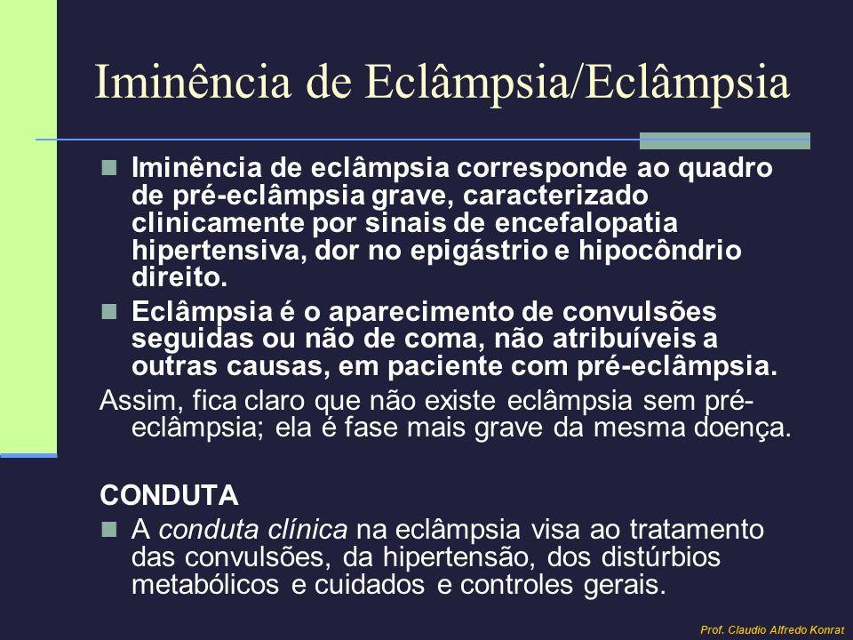 Iminência de Eclâmpsia/Eclâmpsia