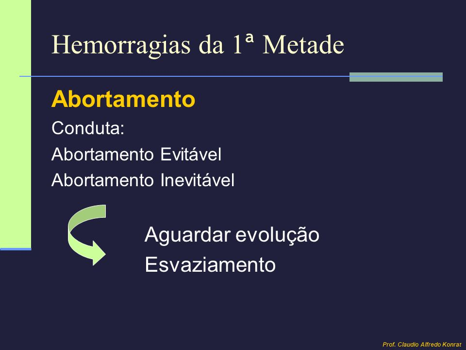 Hemorragias da 1ª Metade