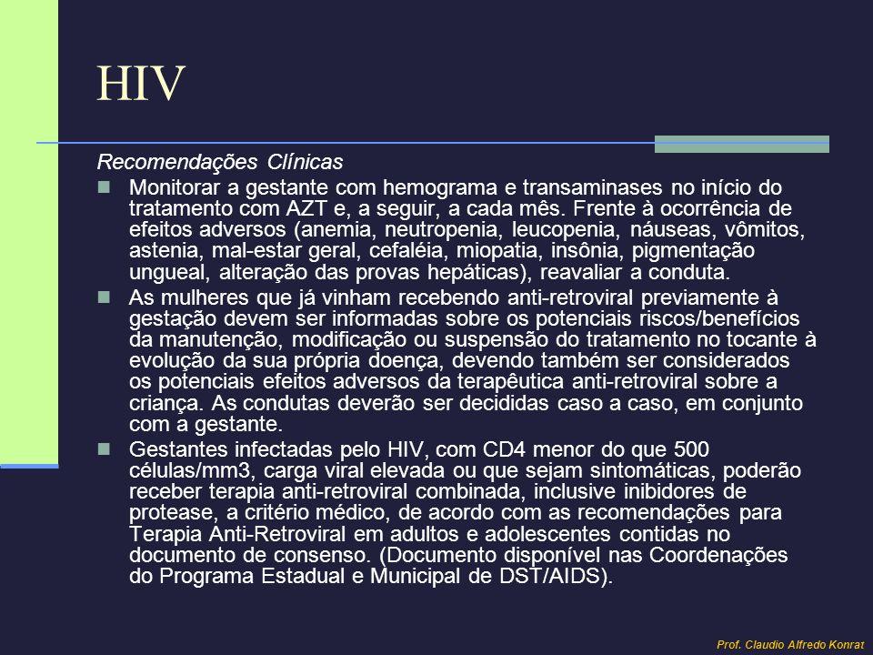 HIV Recomendações Clínicas