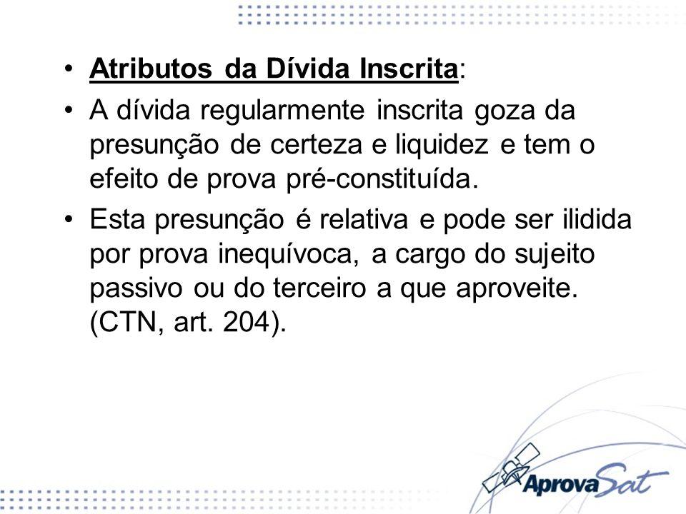 Atributos da Dívida Inscrita: