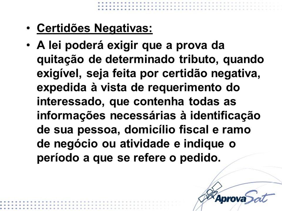 Certidões Negativas: