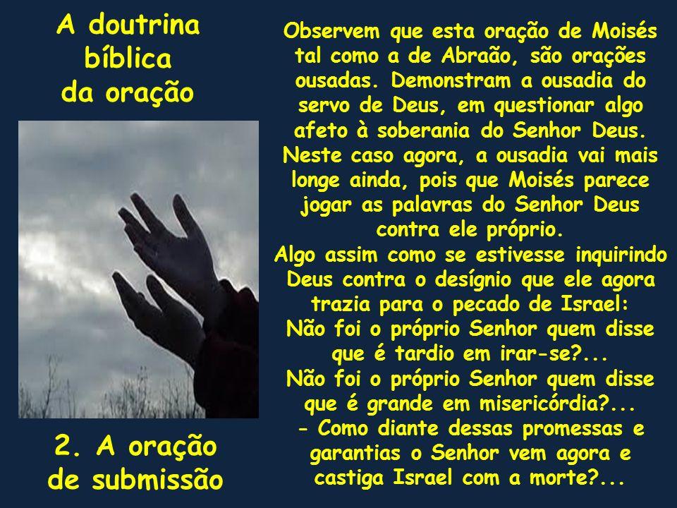 A doutrina bíblica da oração 2. A oração de submissão