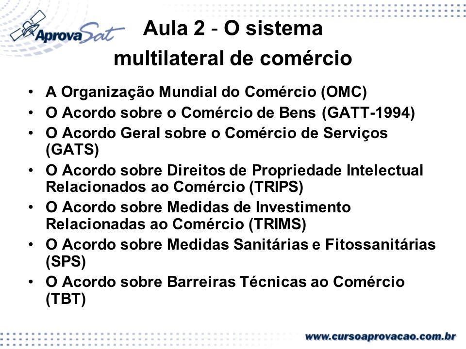 Aula 2 - O sistema multilateral de comércio