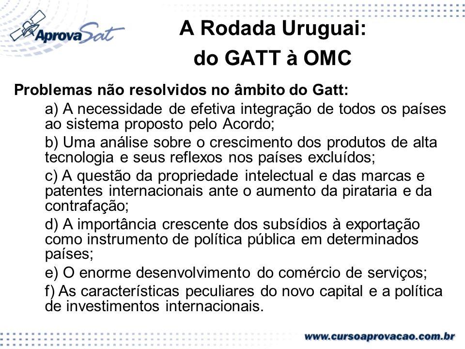 A Rodada Uruguai: do GATT à OMC