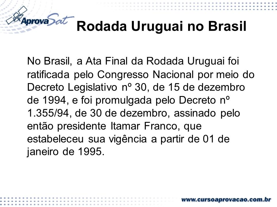 Rodada Uruguai no Brasil