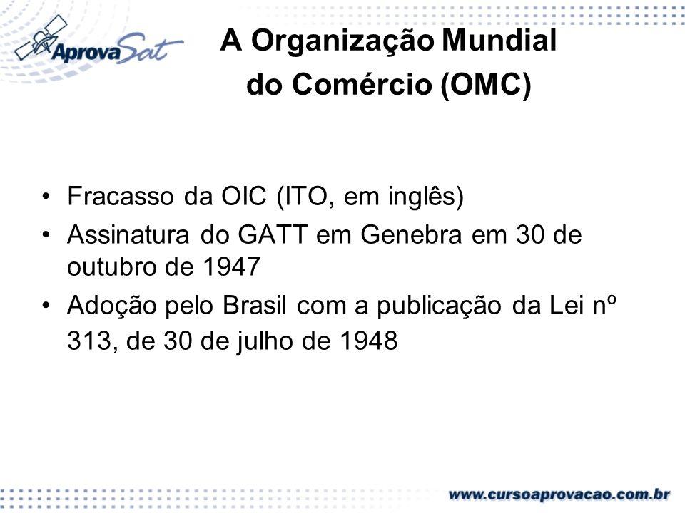 A Organização Mundial do Comércio (OMC)