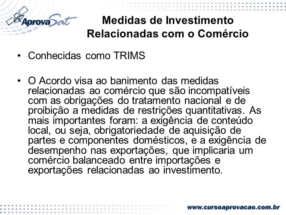 Medidas de Investimento Relacionadas com o Comércio