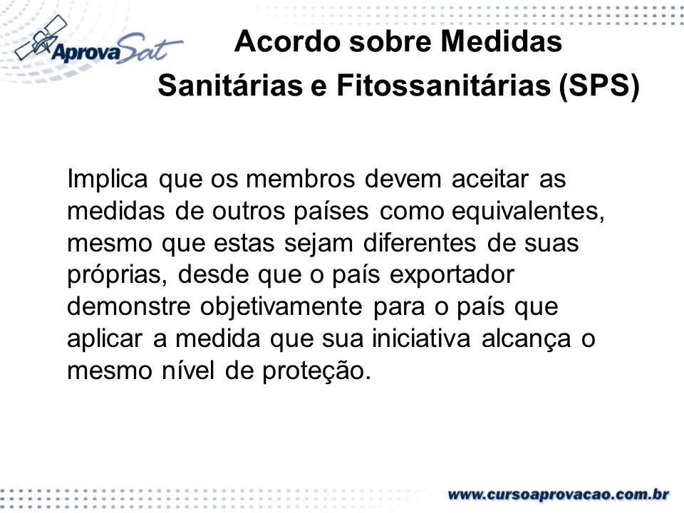 Acordo sobre Medidas Sanitárias e Fitossanitárias (SPS)