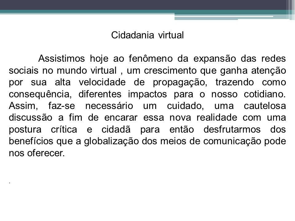 Cidadania virtual