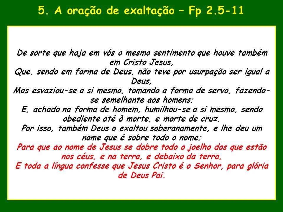 5. A oração de exaltação – Fp 2.5-11