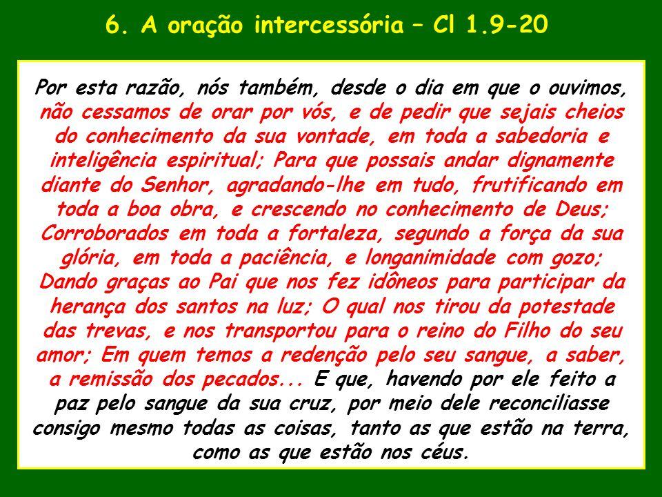 6. A oração intercessória – Cl 1.9-20