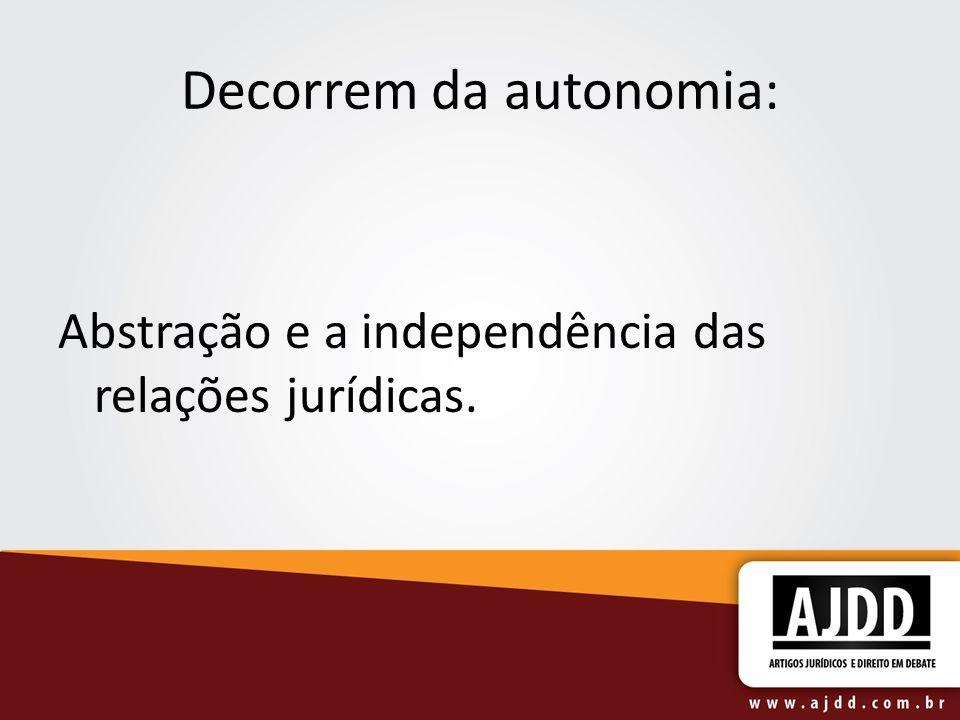 Decorrem da autonomia:
