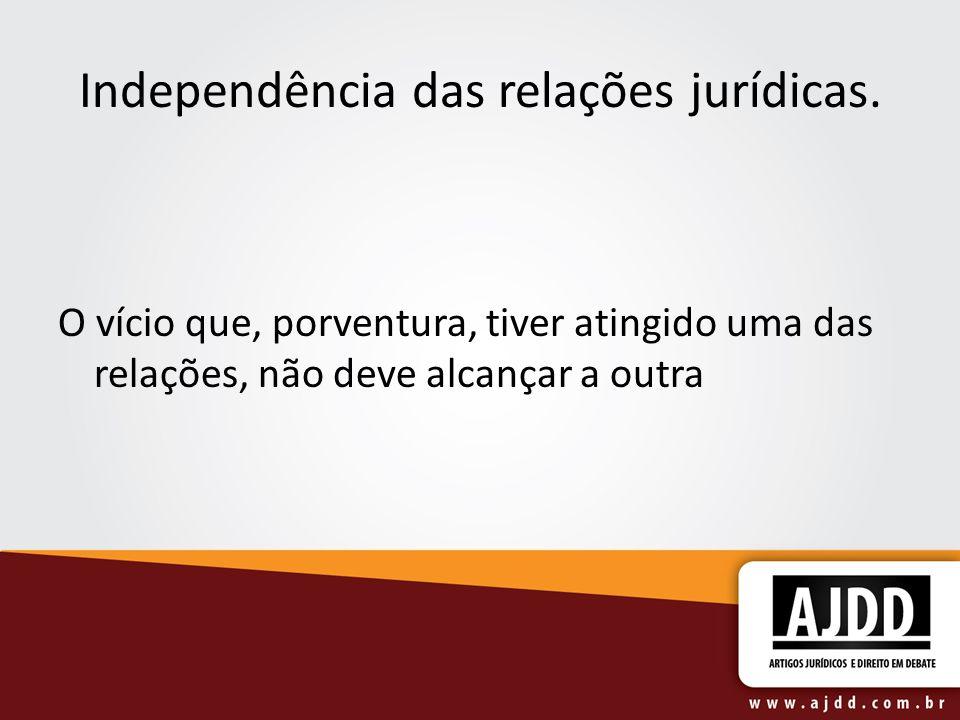 Independência das relações jurídicas.