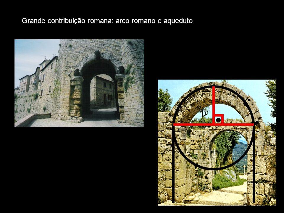 Grande contribuição romana: arco romano e aqueduto