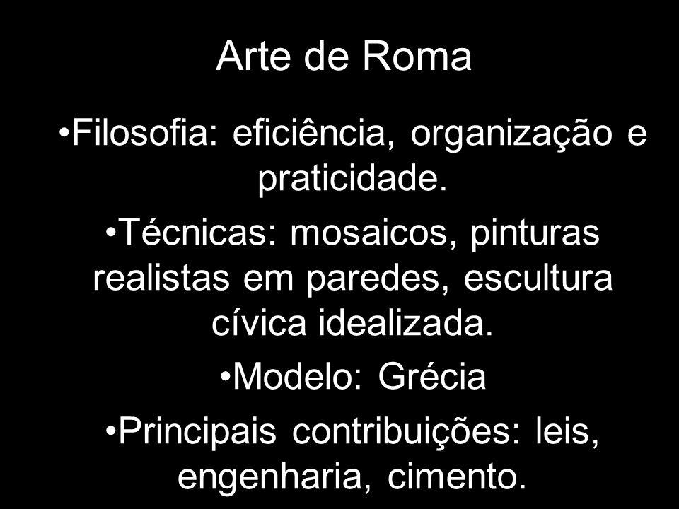 Arte de Roma Filosofia: eficiência, organização e praticidade.