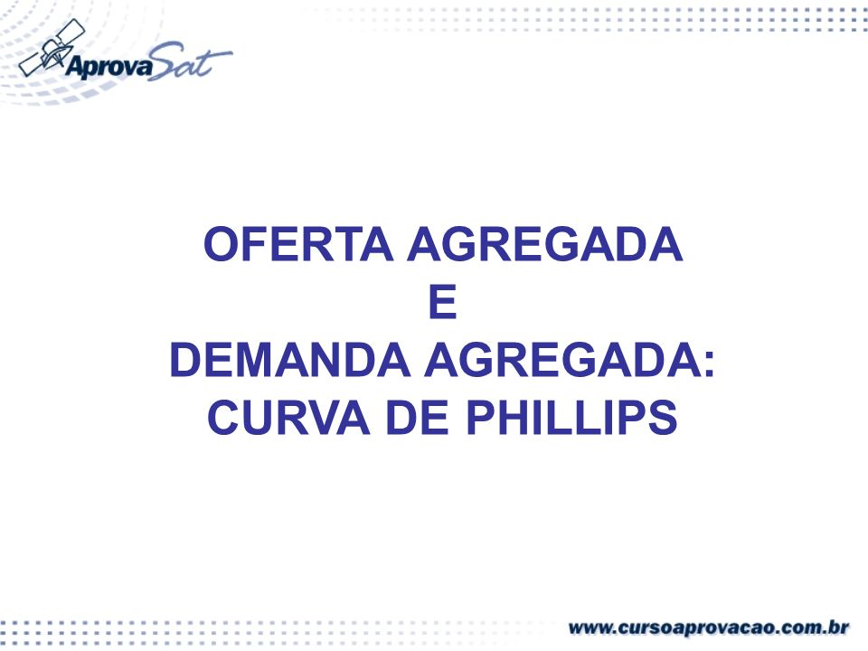 DEMANDA AGREGADA: CURVA DE PHILLIPS