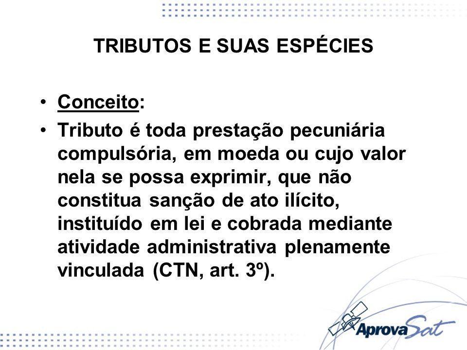 TRIBUTOS E SUAS ESPÉCIES