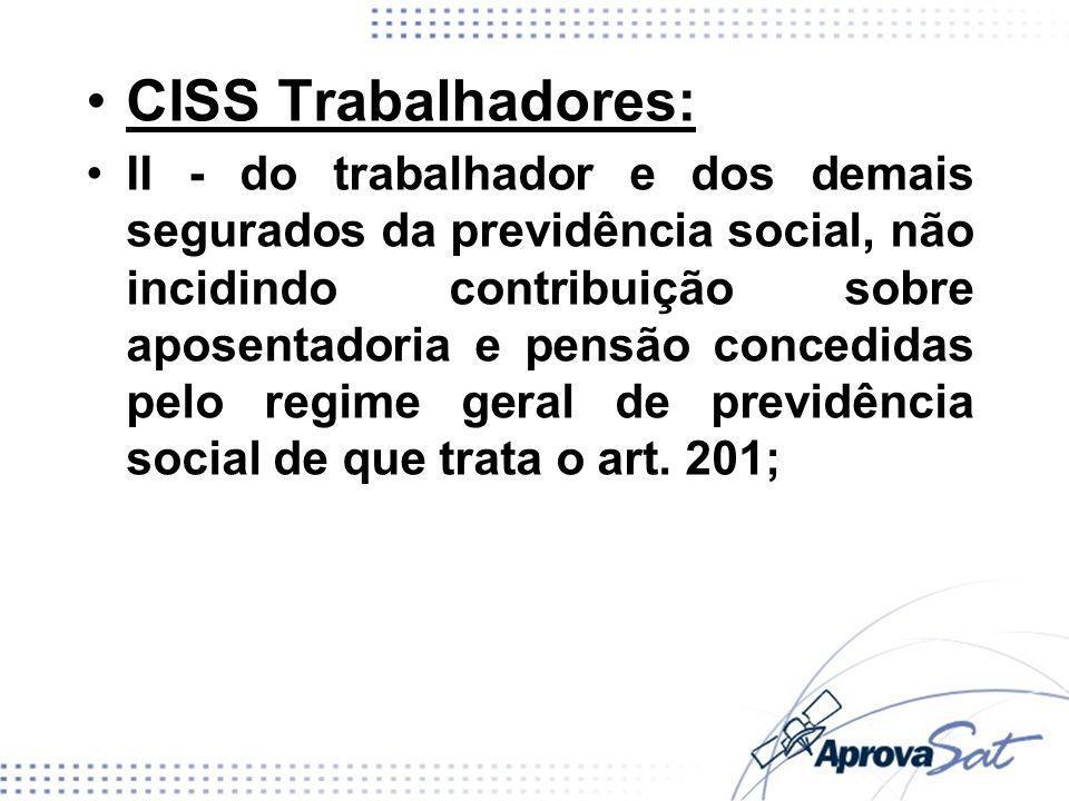 CISS Trabalhadores: