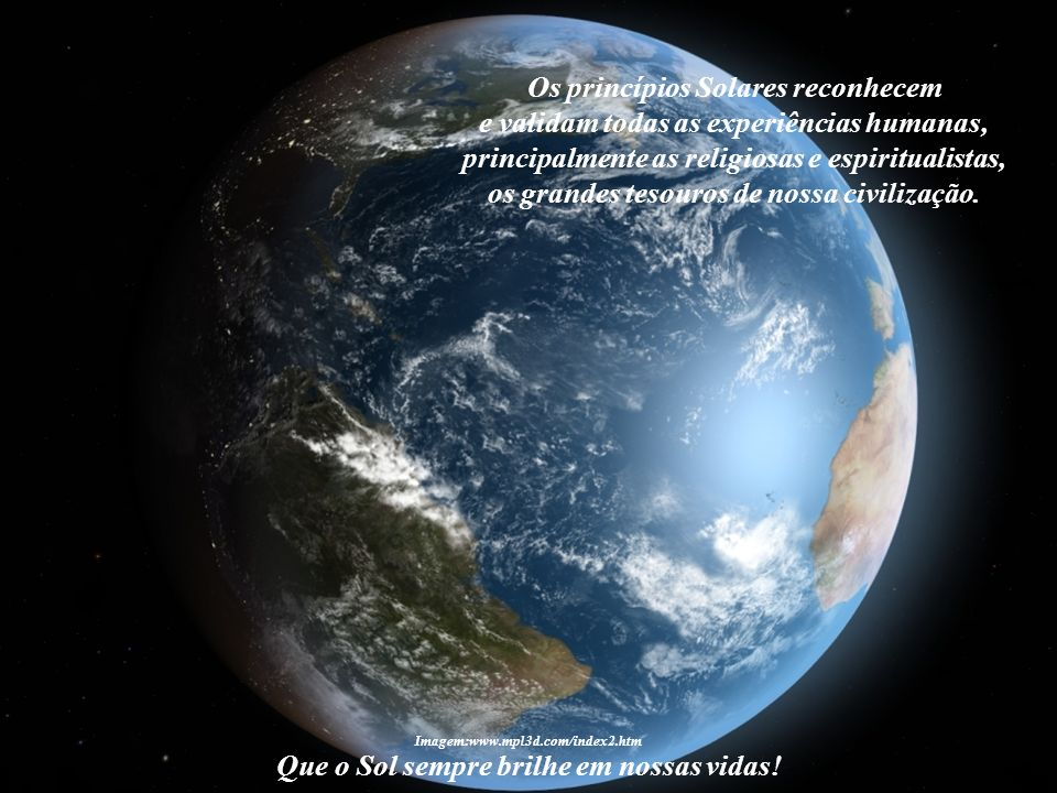 Os princípios Solares reconhecem