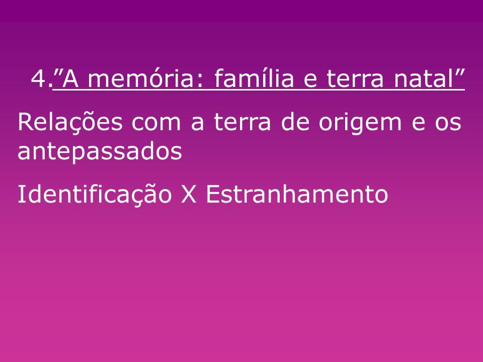 4. A memória: família e terra natal