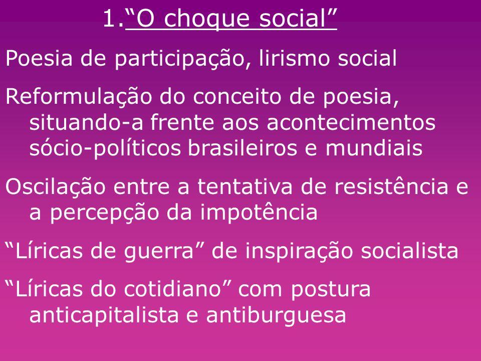 O choque social Poesia de participação, lirismo social