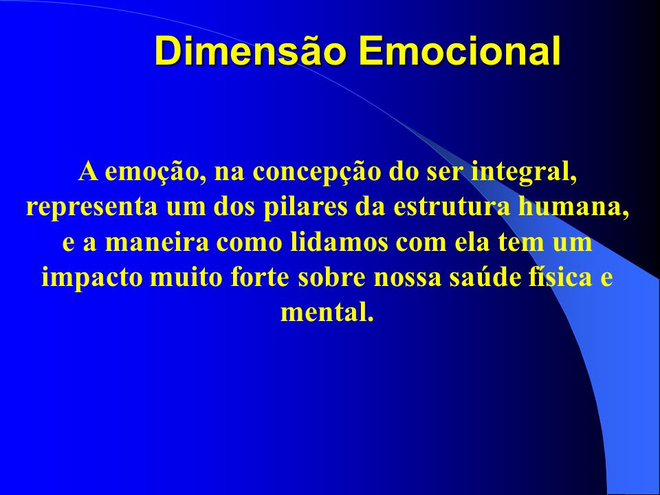 Dimensão Emocional