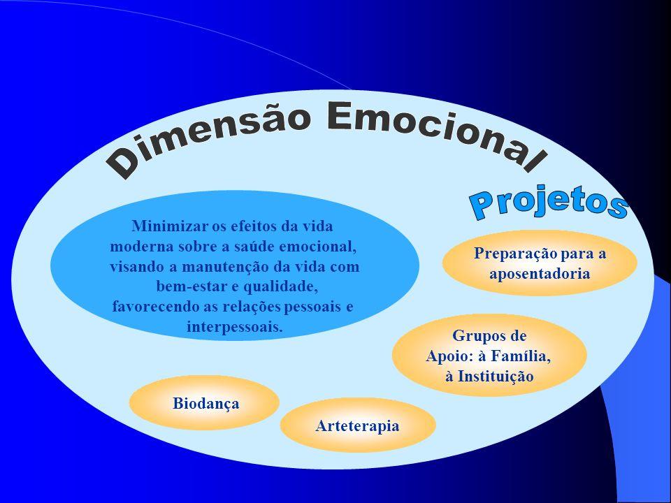 Dimensão Emocional Projetos Minimizar os efeitos da vida