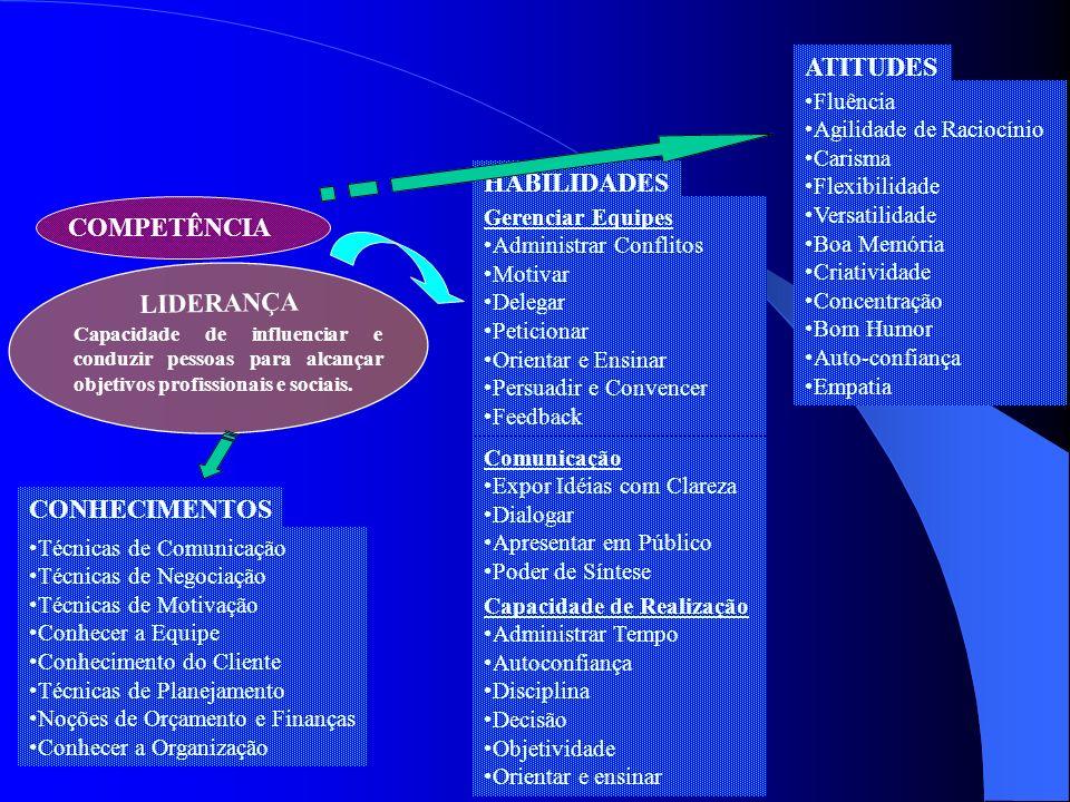 ATITUDES HABILIDADES COMPETÊNCIA LIDERANÇA CONHECIMENTOS Fluência