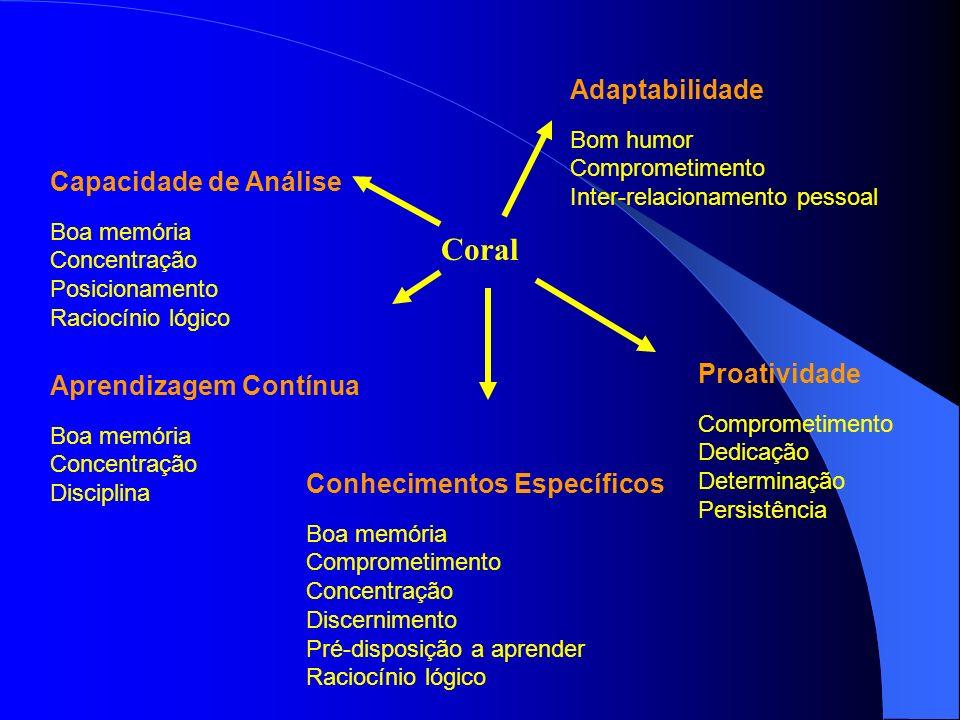 Coral Adaptabilidade Capacidade de Análise Proatividade