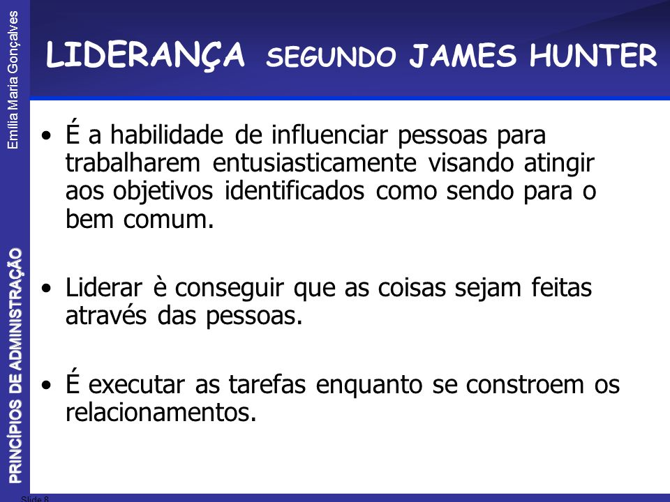 LIDERANÇA SEGUNDO JAMES HUNTER