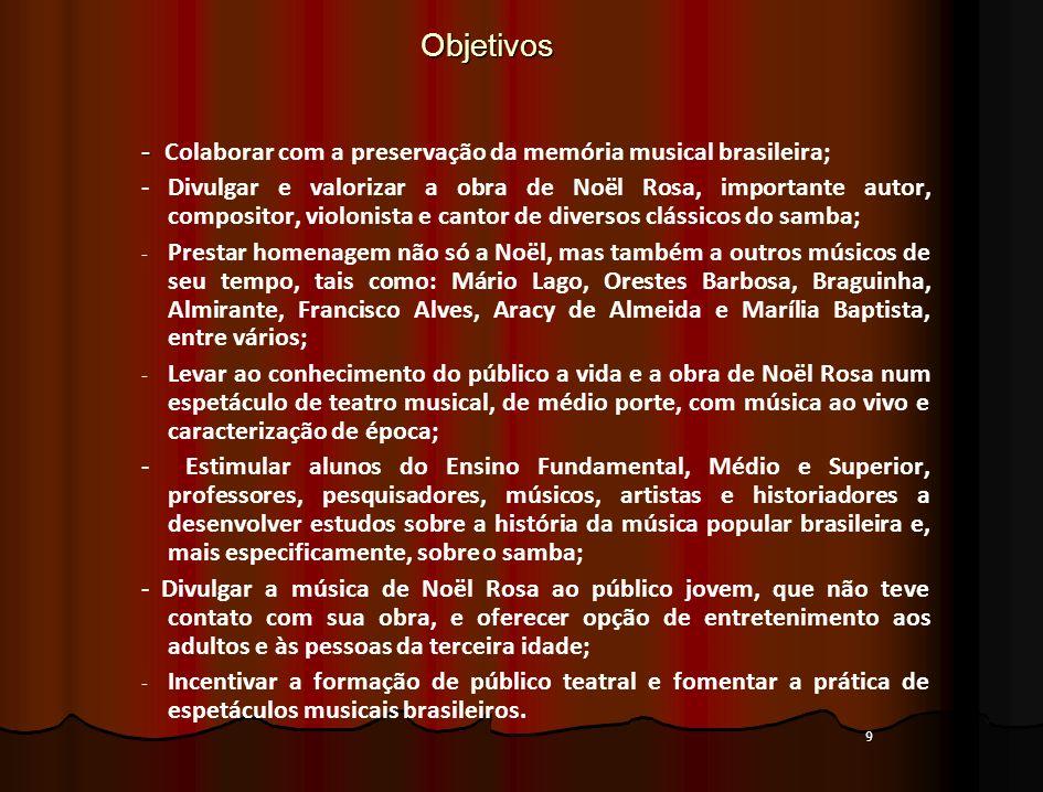 Objetivos - Colaborar com a preservação da memória musical brasileira;
