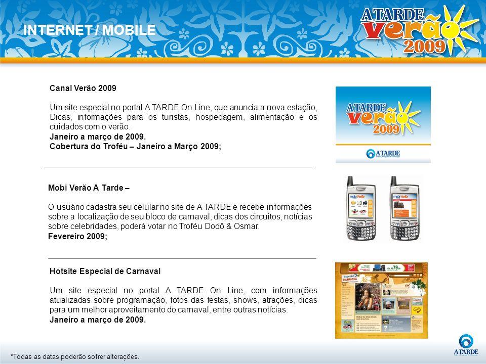 INTERNET / MOBILE Canal Verão 2009
