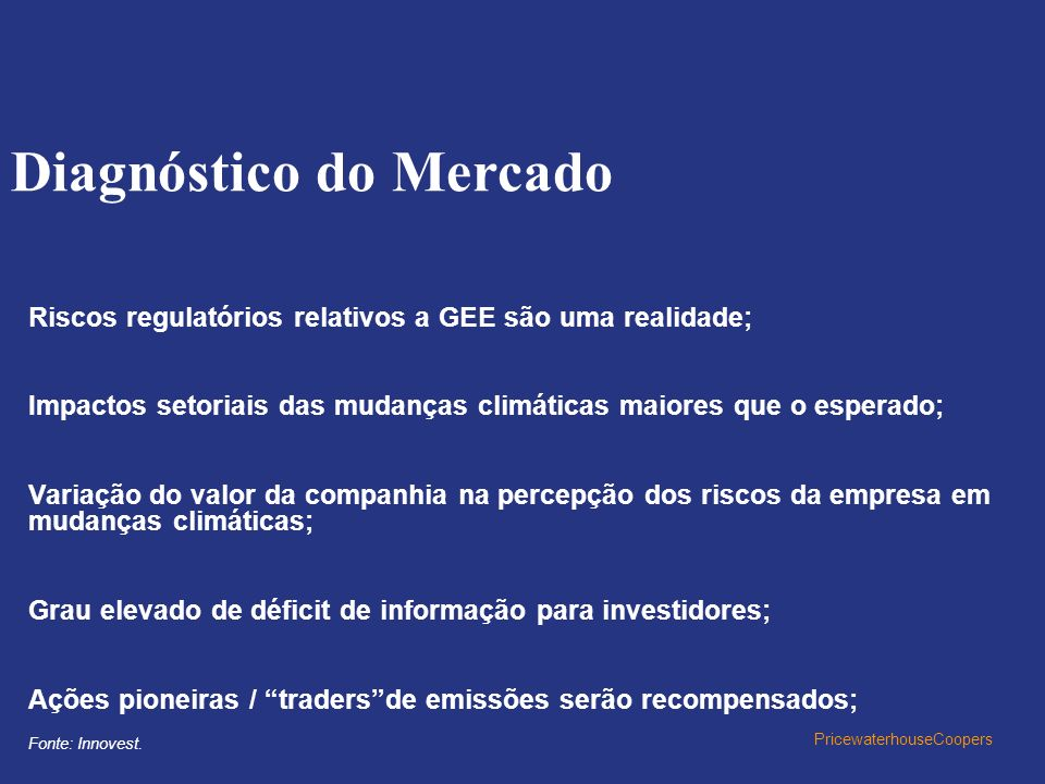 Diagnóstico do Mercado