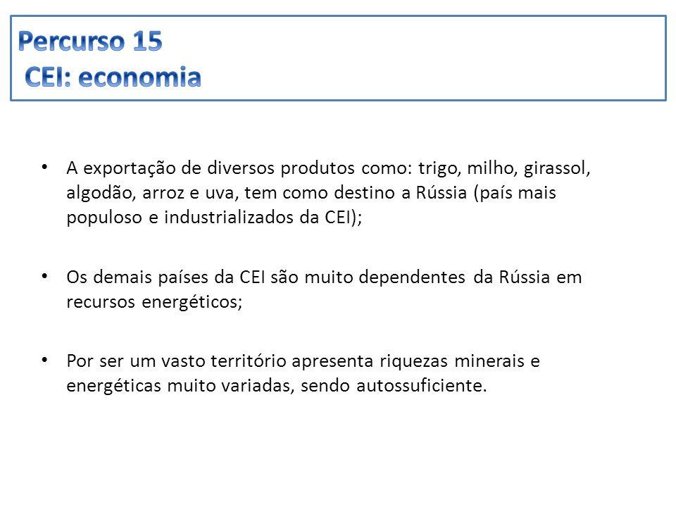 Percurso 15 CEI: economia