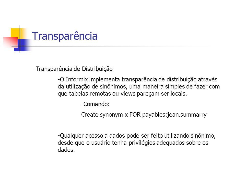 Transparência -Transparência de Distribuição