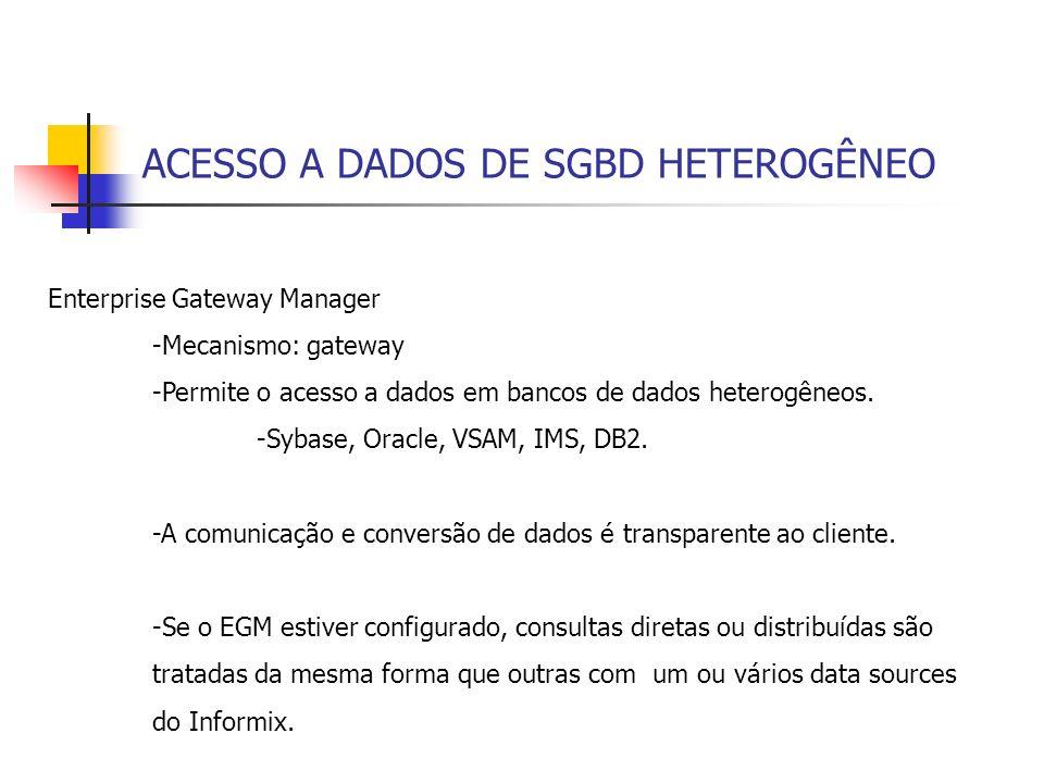 ACESSO A DADOS DE SGBD HETEROGÊNEO