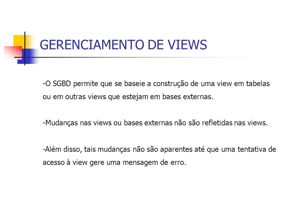GERENCIAMENTO DE VIEWS