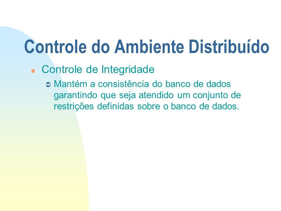 Controle do Ambiente Distribuído