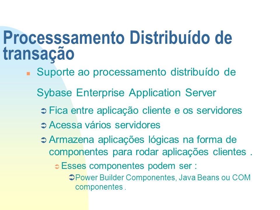 Processsamento Distribuído de transação