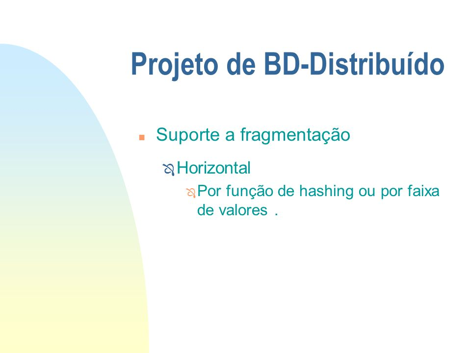 Projeto de BD-Distribuído