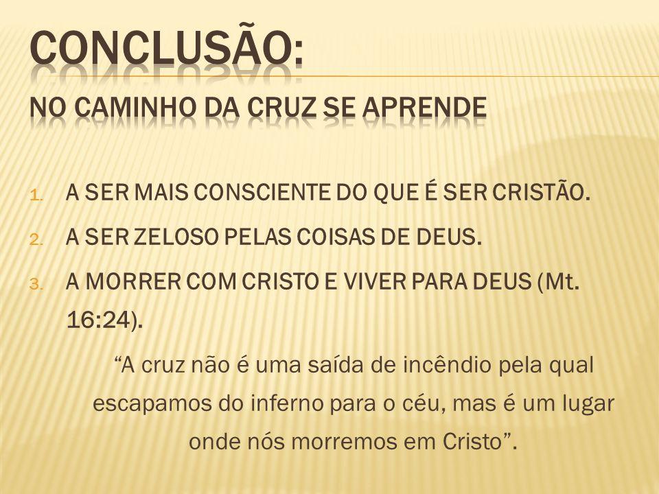 CONCLUSÃO: NO CAMINHO DA CRUZ SE APRENDE