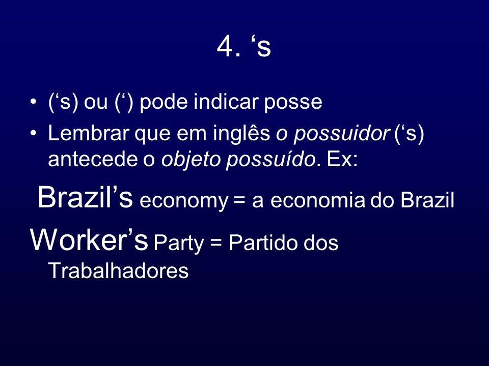 Worker's Party = Partido dos Trabalhadores