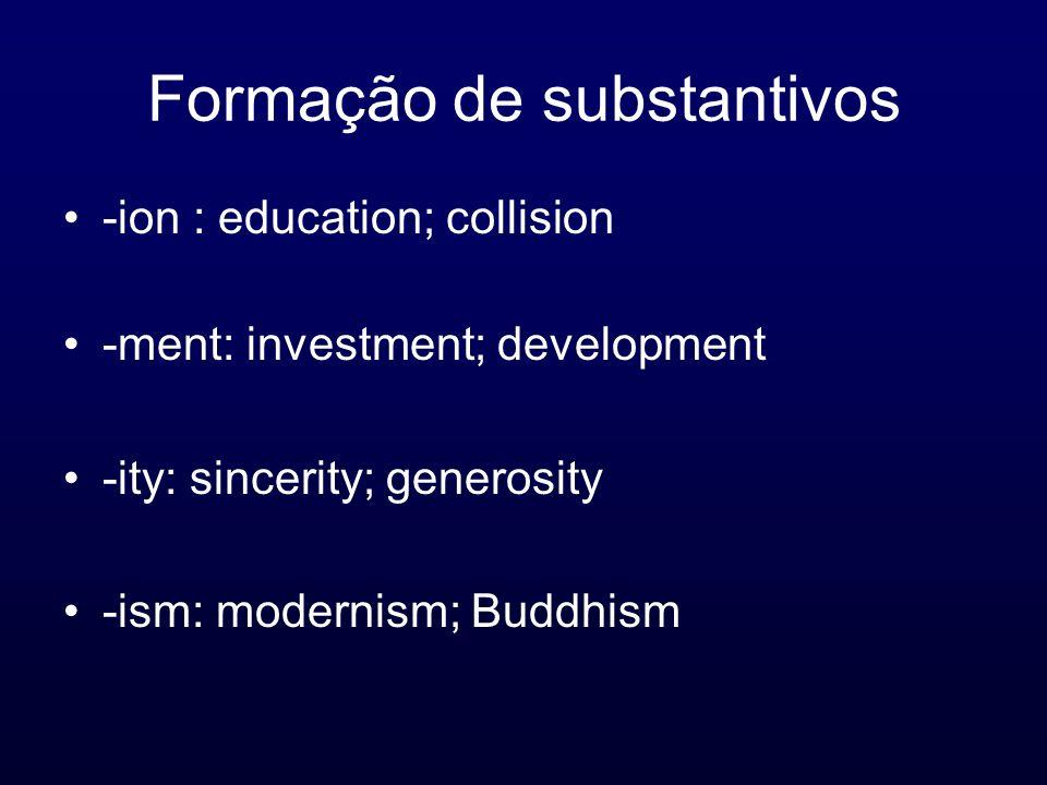 Formação de substantivos