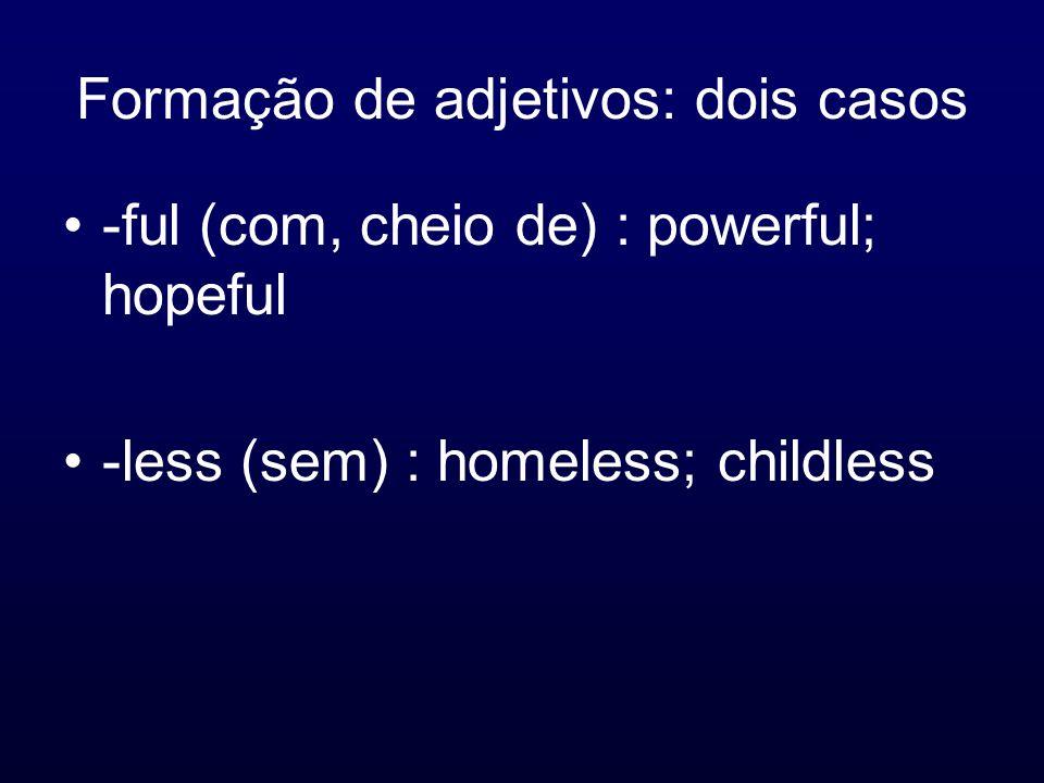 Formação de adjetivos: dois casos