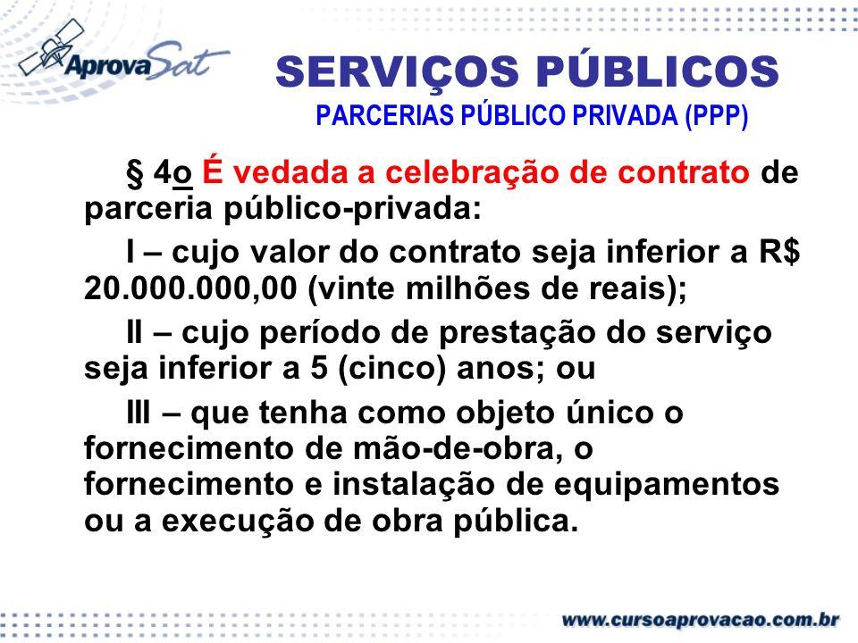 SERVIÇOS PÚBLICOS PARCERIAS PÚBLICO PRIVADA (PPP)