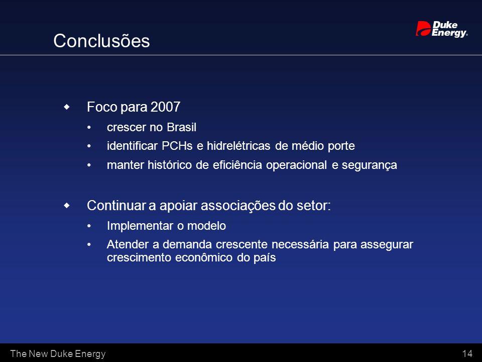 Conclusões Foco para 2007 Continuar a apoiar associações do setor: