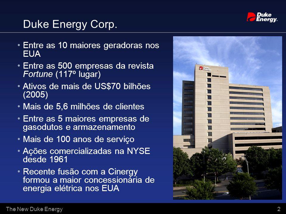 Duke Energy Corp. Entre as 10 maiores geradoras nos EUA