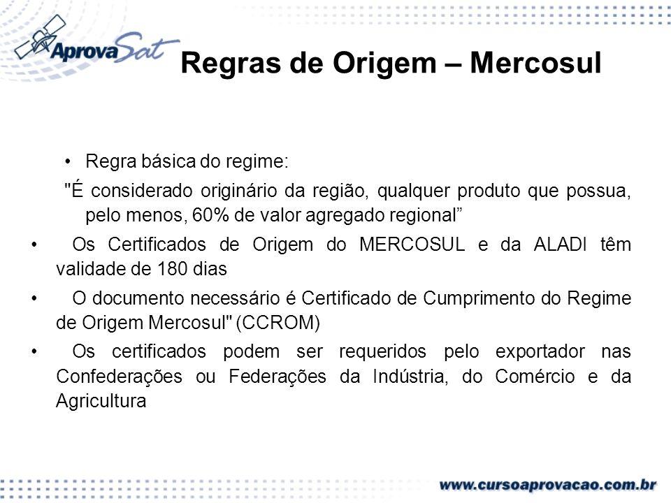 Regras de Origem – Mercosul