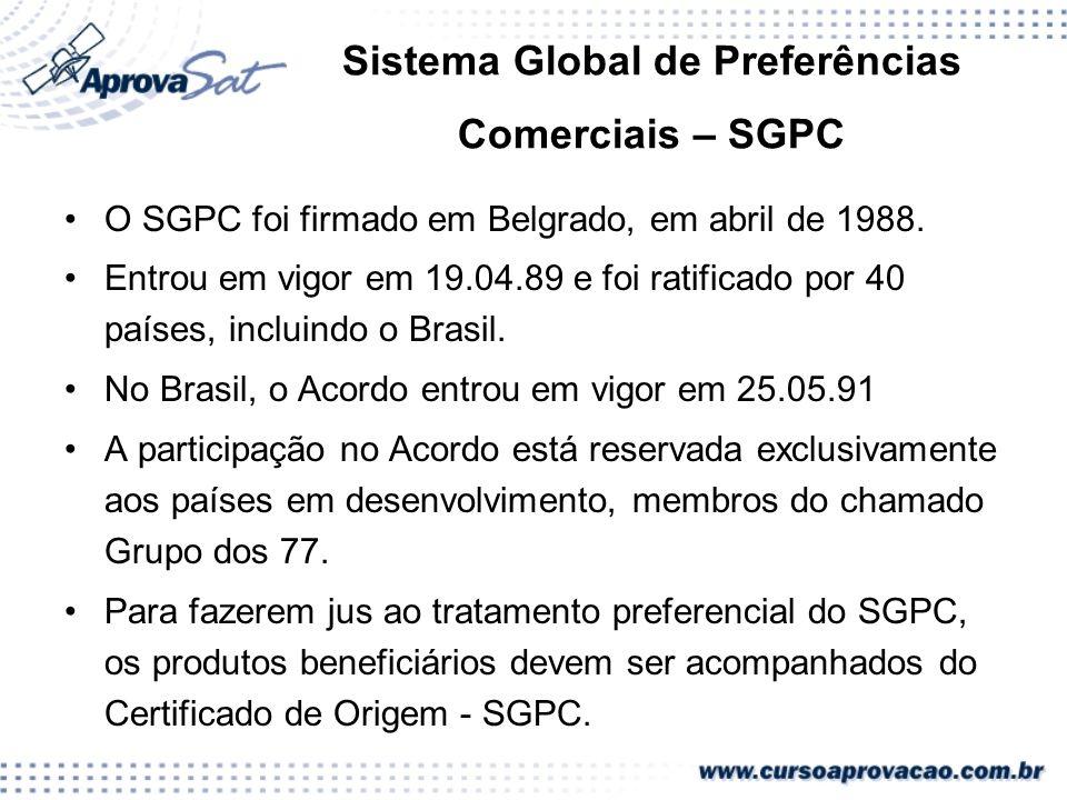 Sistema Global de Preferências Comerciais – SGPC