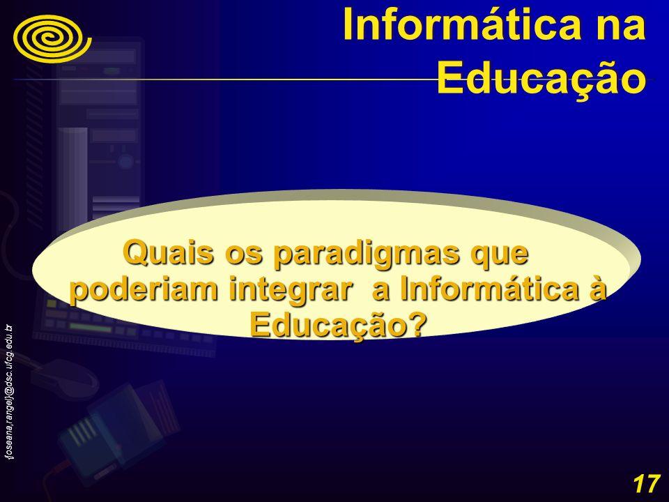 Quais os paradigmas que poderiam integrar a Informática à Educação